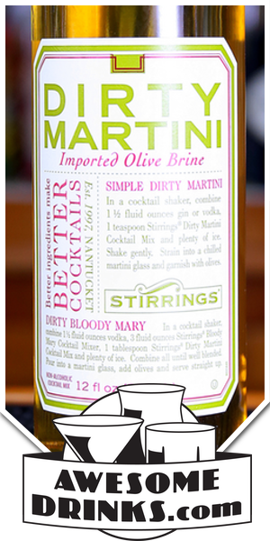 Stirrings Dirty Martini Olive Brine
